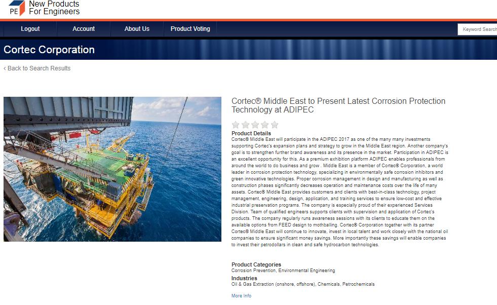 Saudi Arabia | Cortec Corporation