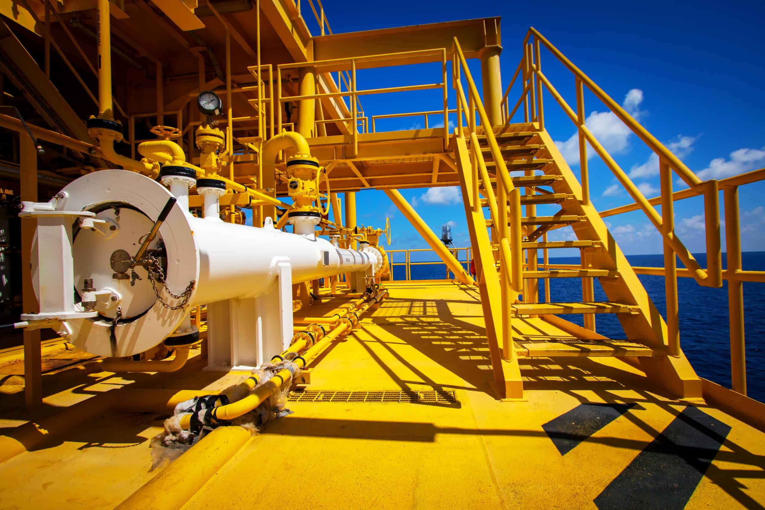 Pipe line gas and structure of offshore platform