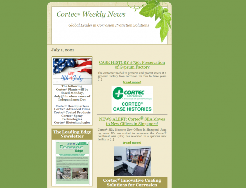 Cortec News for Friday, July 02, 2021